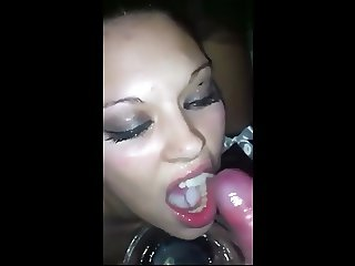 she eats a lot of cum!