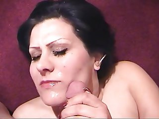 Horny babe getting cock ridden and sucked