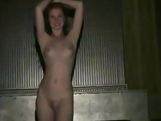 lots of sexy girls flashing nude in public disco