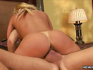 Juicy hot blonde sucking the dick and riding it like a boss