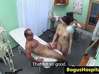 Cumswallowing hospital babe caught on spycam
