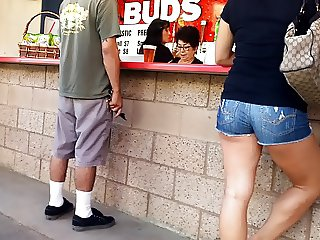 Nice ass and legs in shorts.