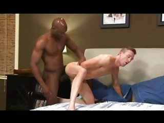GPB / Huge Black Cock for White Twink