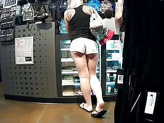 Bubble cheeks in booty shorts pt.2