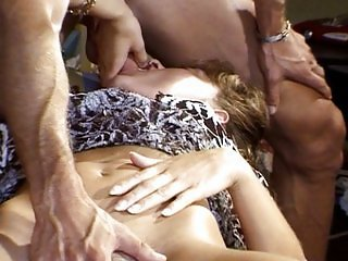 Blond French girl has some fun