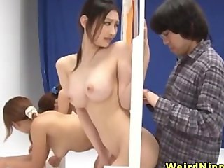 Beautiful asians bent over at gameshow