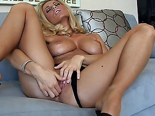 Blonde solo with heels