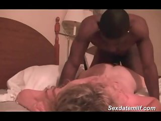 Delighful sounds of white mature fucked by BB