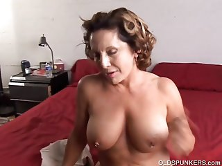Fit old spunker enjoys a hard fuck and a sticky facial cumsh