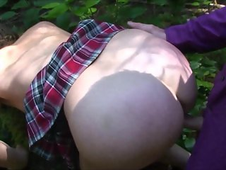 Cheerleader in the Woods