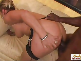 Busty GILF gets pounded by big black dick