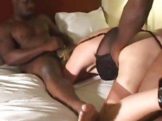 Cuckold wife gets bred by two BBC