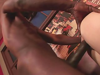 Getting Stretched By A Black Cock