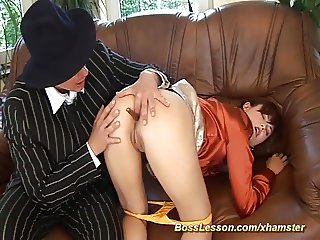 extreme sex lesson by our boss