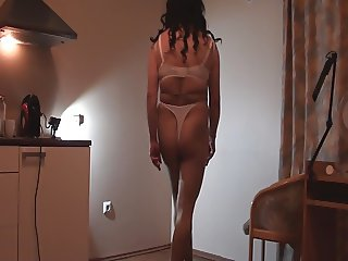 My New Swimsuits with pantyhose