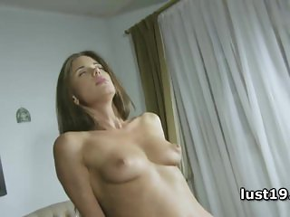 Lusty Caprice riding her favorite sex toy