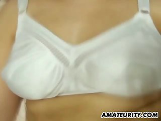 Chubby amateur GF blowjob with creampie