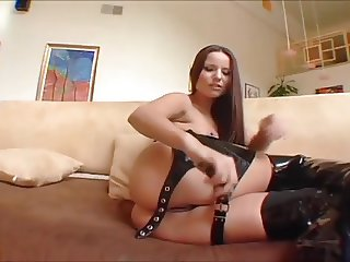 Claudia Leather Threesome