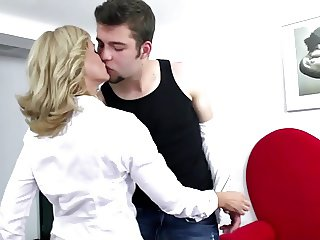 Sexy mature mom fucked hard by her son's friend