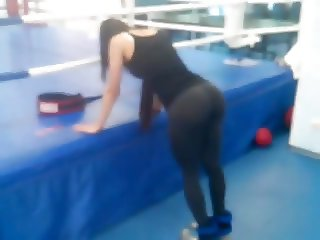 Amazing perfect ass at gym