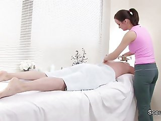 Client seduce redhair Masseuse To Fuck in Massage Parlour
