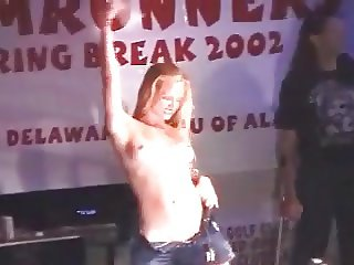 Hot Redhead in Wet T-Shirt Contest