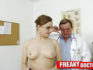 Old and young medical fetish with chubby babe Sona