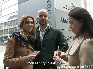 Amazing Busty Teen and Her BF Gets Money for Public SEX