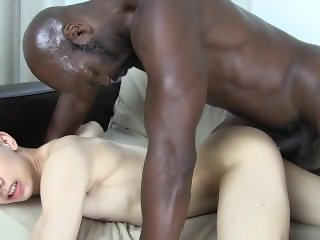 Very Handsome Asian gay has sweet fuck by a Strong Black one -HD
