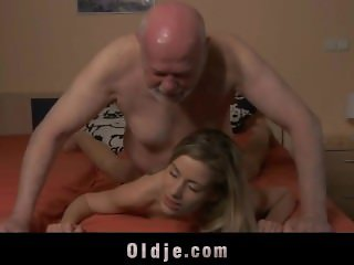 Old cock in young pussy
