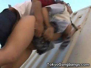 Teen Fucked Rough Beside a Container!