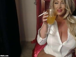 Hot Blonde Cunt Smokes