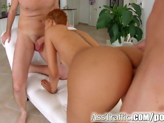 Slim African coutie Halona Vog get hardcore anal pounding on Ass Traffic