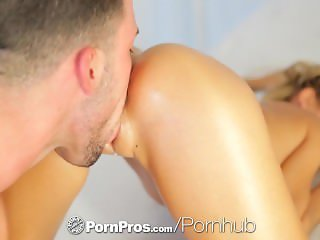 PornPros - Lola Reve's skinny ass is massaged and fucked