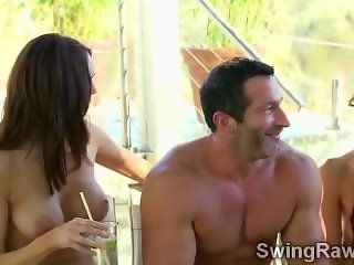 Amateur swinger couples have wild party in this reality show