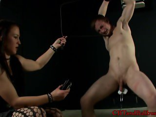 CBT slave experiences a humbler on his balls