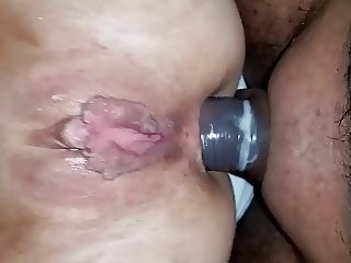 Anal fucking with large pussy lips