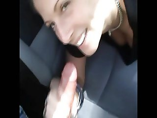 Dirty blonde teen chav in car park