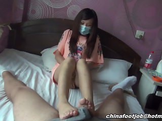 chinese teen footjob