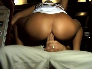 Husband watching wife gangbanged in restaurant and anal in Bus