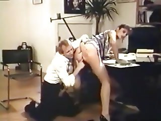 Boss Gets Fucked In Stockings And Heels