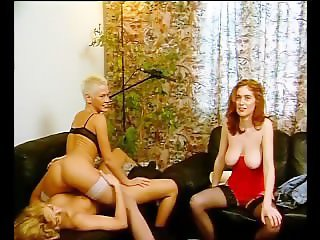 Euro girls undress and lick each other