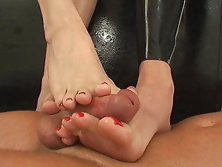 Tag Team Footjob