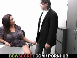 His wife leaves and she jumps on his cock