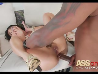 Sweet Japanese Girl Takes Black Cock Up The A