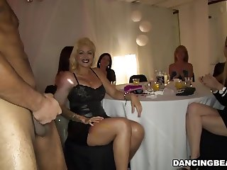 Sexy girls enjoy dick party