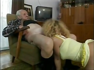 Very Old Guys Enjoy Munching On Tight Teen Pussy