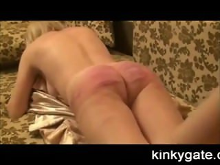 Nasty amateur Caning of russian slave