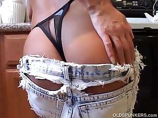 Hot & horny old spunker imagines you fucking her juicy pussy