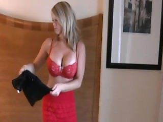 Sexy blonde held by airport security